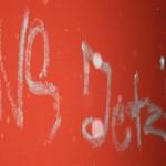 NS jetzt - Beispiel rechtsextremistischer Schmierereien in Dresden Laubegast