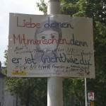 Kommentiertes Plakat Salzburger Straße